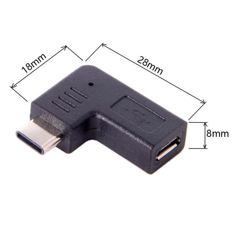 USB-C Type-C папа к Micro-USB 2,0 5Pin Женский адаптер данных 90 градусов угловой тип