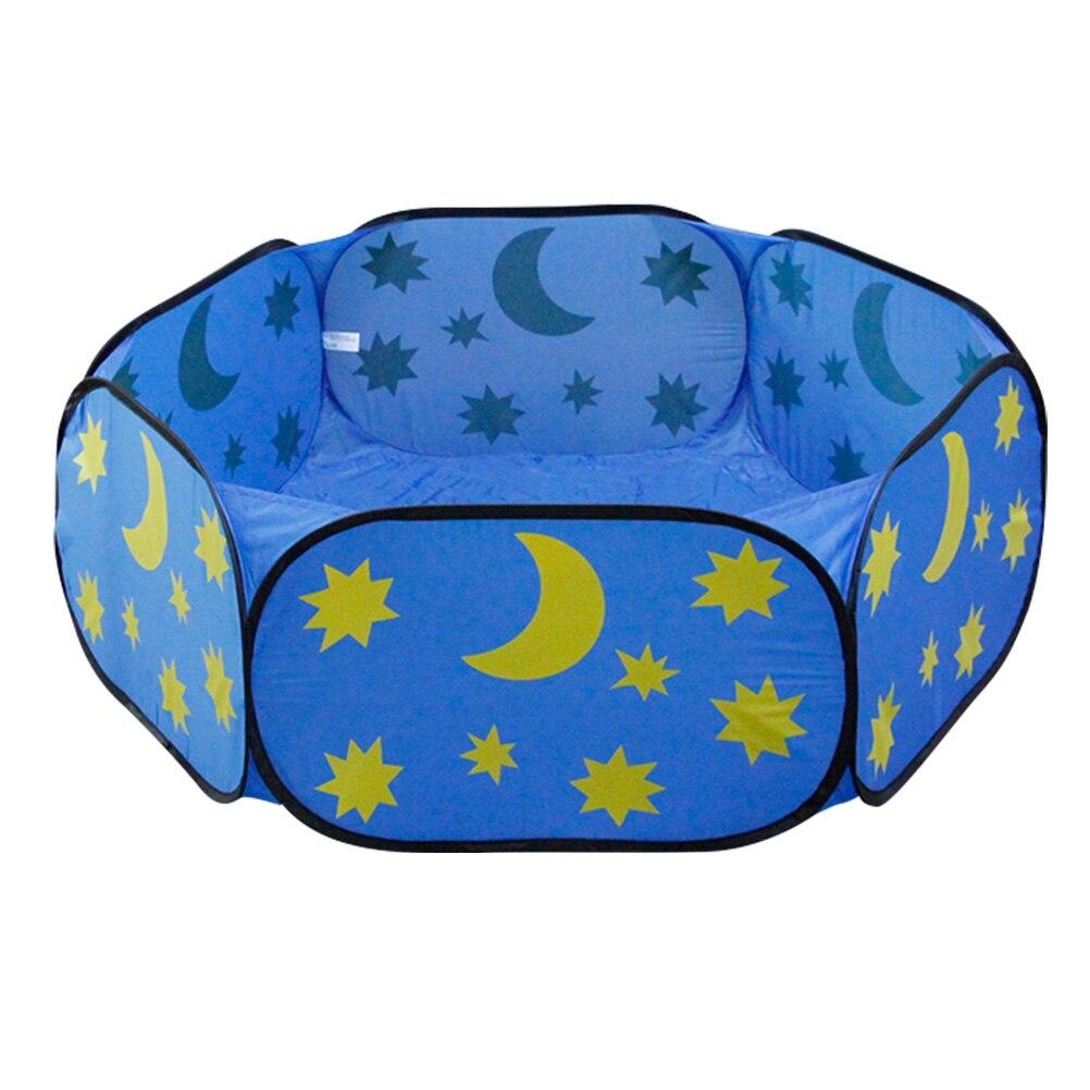 1 Pc Kleine Pet Spielzeug Laufstall Mond Star Ocean Falten Cartoon Sicher Zaun Spielen Korb Laufstall Für Baby Haustier
