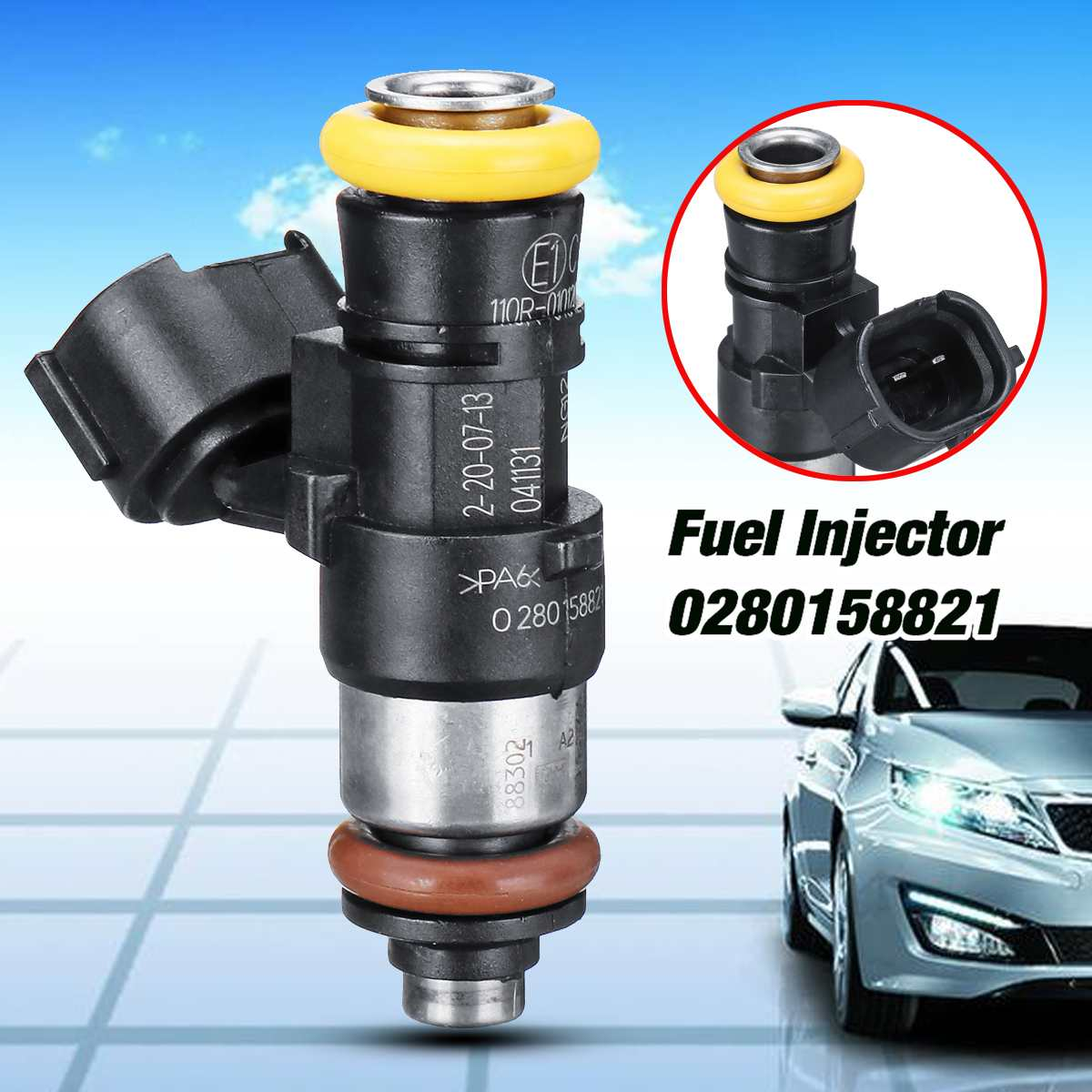 BOSCH Gas Petrol 210lb 2200cc High Impedance Fuel Injector SHIPPING TO SWEDEN