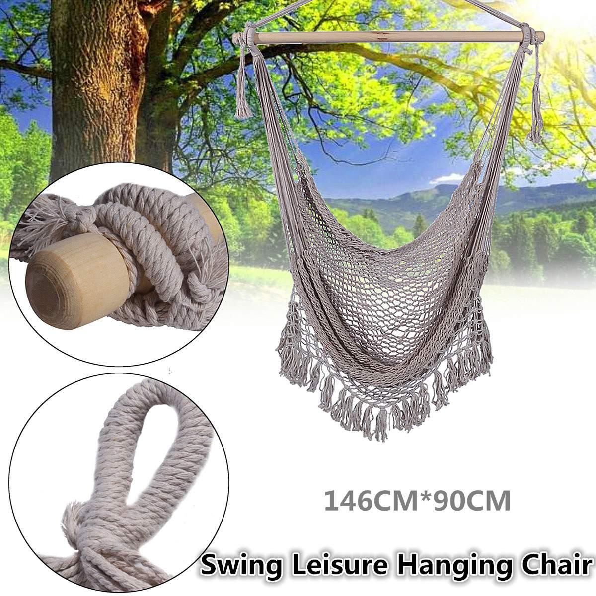 Hamac extérieur chaise chaises suspendues balançoire coton corde Net balançoire berceaux enfants adultes Ba cony jardin intérieur voyage Portable chaud