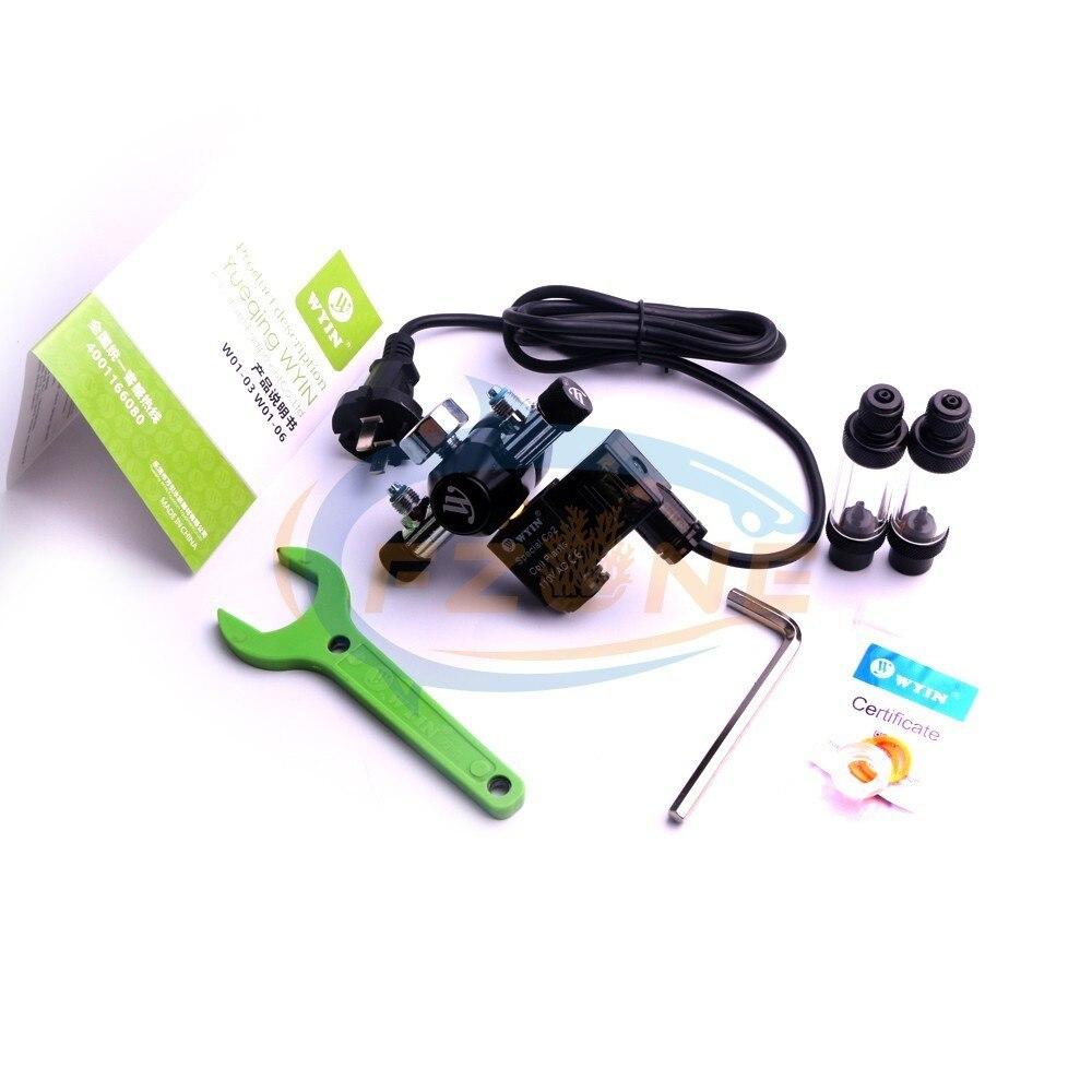 Acuario Wyin doble salida calibre CO2 regulador con válvula de contador de burbujas de válvula de solenoide y Kits de instalación - 6
