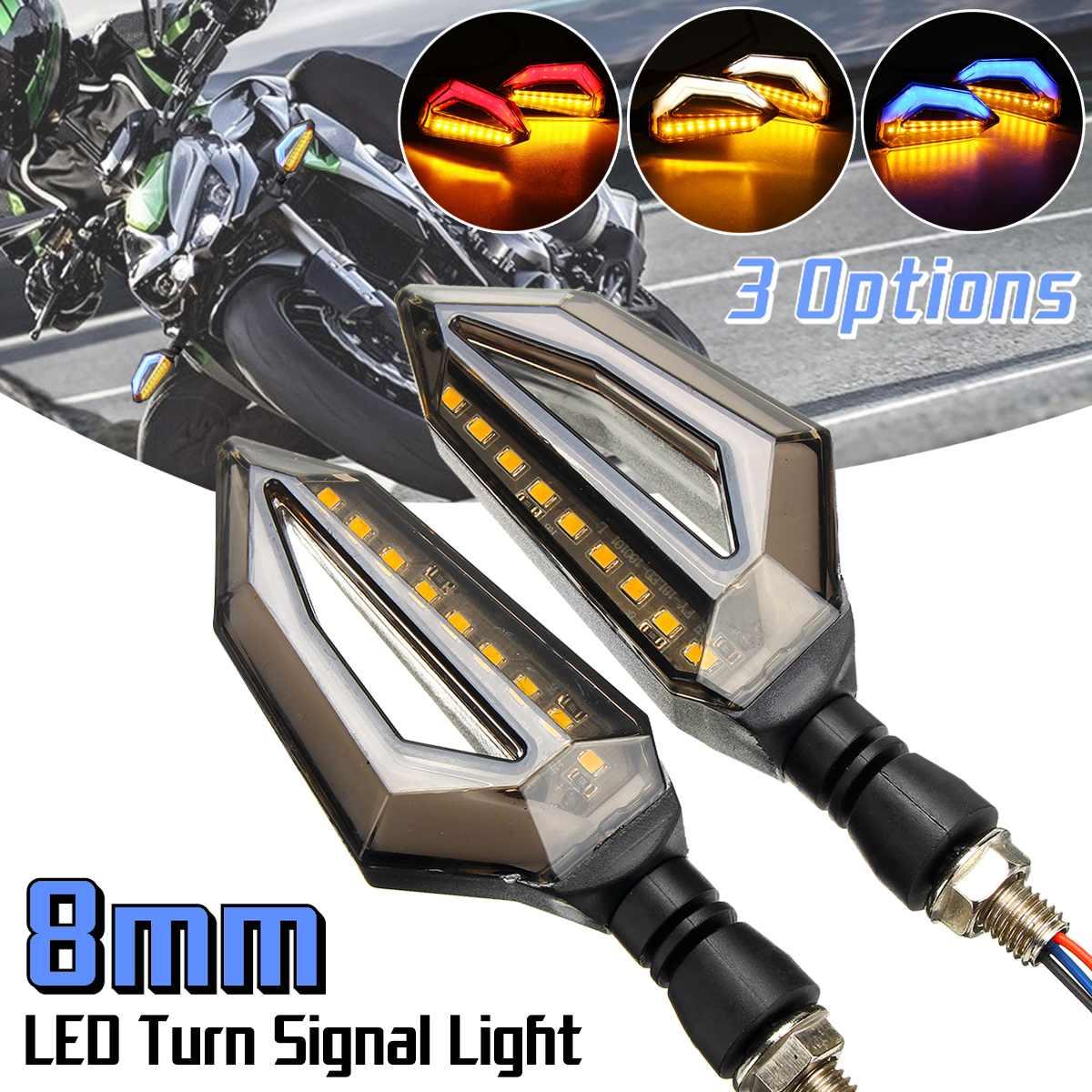 2pcs 12V Motorcycle LED Turn Signal Indicator Lights For Kawasaki/Yamaha/BMW/Honda/KTM2pcs 12V Motorcycle LED Turn Signal Indicator Lights For Kawasaki/Yamaha/BMW/Honda/KTM