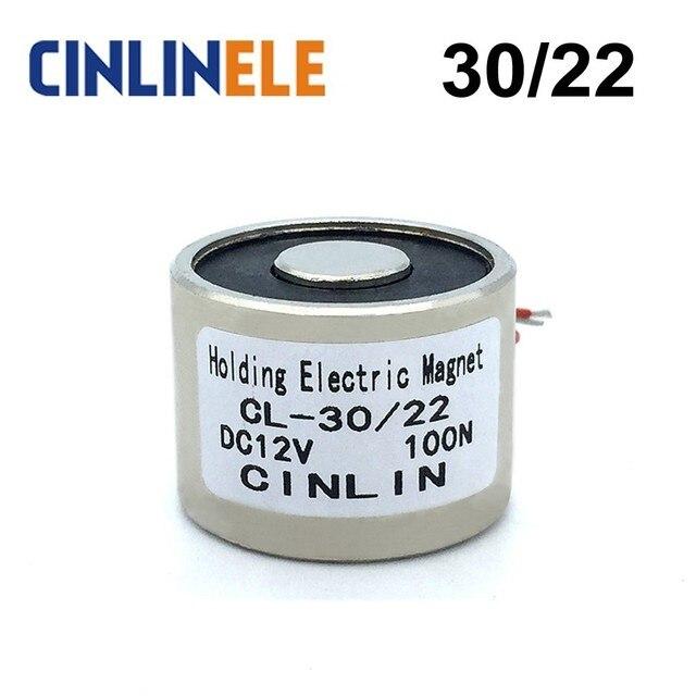 CL-P 30/22 10KG 22lbs 100N Holding Electric Magnet Lifting Solenoid Sucker Electromagnet DC 6V 12V 24V Non-standard custom