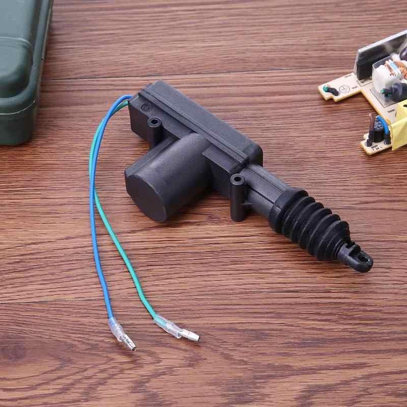 2 piezas Universal 12 V Kit de bloqueo Central de la puerta con 2 cables actuador Auto vehículos sistema de bloqueo Central Coche bloqueo de motor nuevo caliente