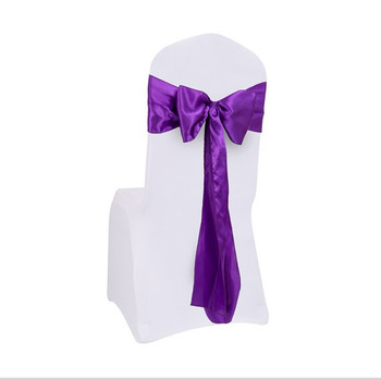 Marious 100PCS 17x275cm Premium Satin Chair Cover bow Wedding Banquet decoration Chair Sashes  Party Supplier  Free Shipping