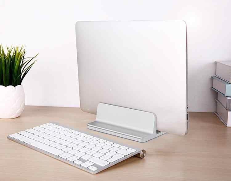 EastVita سبائك الألومنيوم قوس رف الكتب العمودي تخزين حامل لأجهزة الكمبيوتر المحمول دفتر دعامة حامل r60