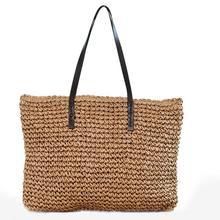 2019 Hot Large Travel Straw Bag Women Handbag Bohemia Beach Bags Handmade Woven Wicker  Tote Bags Rattan Shoulder Bags Bohemian недорого