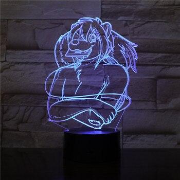Lámpara LED de mesa con USB para decoración 3d, Alien, estrella, León,...