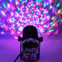 Mini RGB LED DJ Stage Light Professional Disco Ball Voice Cotrol Auto Rotating Crystal Magic Party Stage Lights Sound Active eu plug 48 led rgb voice activated auto rotating party stage light transparent ac 90 240v