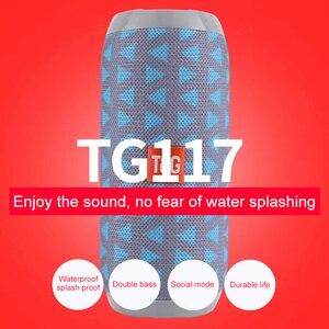 Image 4 - TG Bluetooth スピーカーポータブル屋外スポーツスピーカーワイヤレスミニ列音楽プレーヤーサポート TF カード FM ラジオ Aux 入力