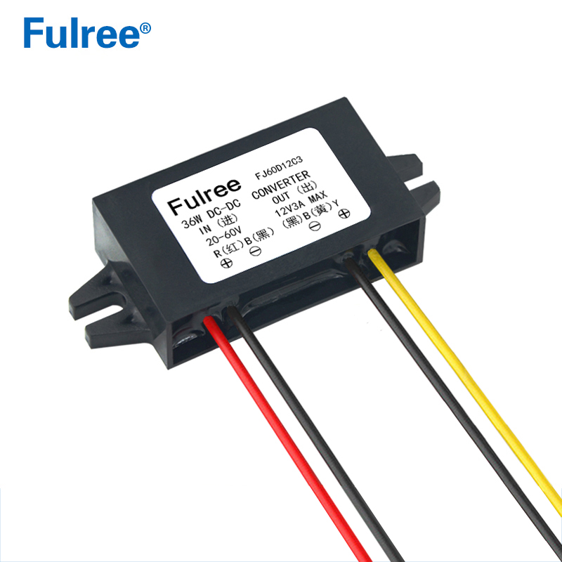 Fulree 60V 48V 36V 24V to 12V 1A 2A 3A DC DC Converter 48VDC to 12VDC Voltage Converter Step Down Buck Car Truck Vehicle PowerFulree 60V 48V 36V 24V to 12V 1A 2A 3A DC DC Converter 48VDC to 12VDC Voltage Converter Step Down Buck Car Truck Vehicle Power