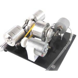 Image 5 - DIY הרכבה קיטור מנוע דגם מדע ניסוי ערכת חשמלי גנרטור מוקדם צעצועים חינוכיים לילדים