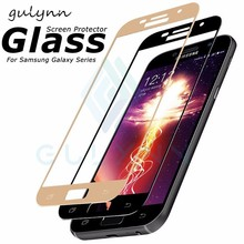 Full Cover Tempered Glass For Samsung Galaxy J3 J5 J7 2017 2018  Screen Protector For Samsung J4 J6 A6 A8 Plus Protective Glass protective glass red line for samsung galaxy a8 plus 2018 a730 full screen black