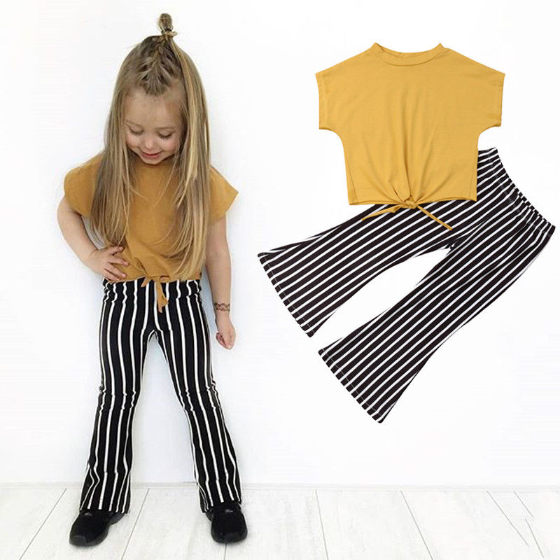 Pudcoco Trend 2PCS Youngsters Ladies Clothes Set Outfits Children Ladies Black White Stripes Pants+Consolation Shirts Leisure Dropship Clothes Units, Low cost Clothes Units, Pudcoco Trend 2PCS Youngsters Ladies Clothes...