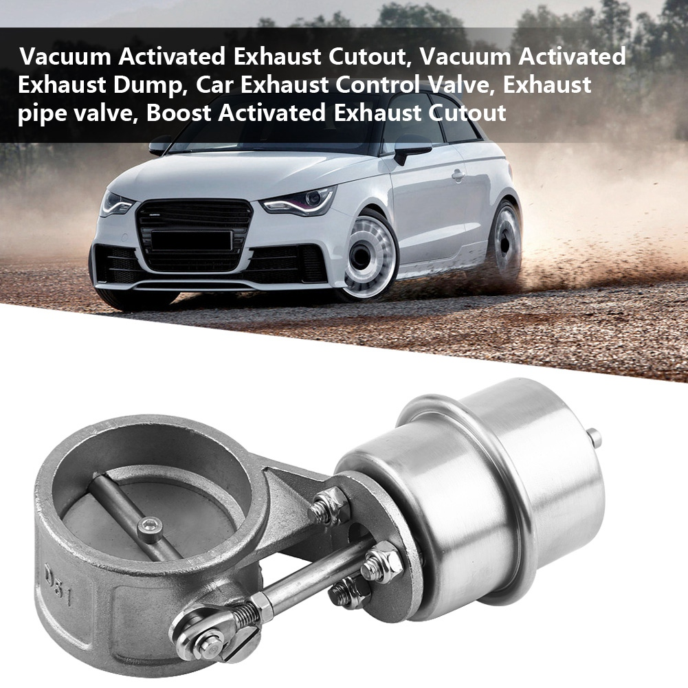Car Exhaust Control Valve Boost Vacuum Activated Exhaust Cutout/Dump 2in Closed Style Car Accessories New