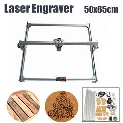 1Set 65x50cm 100mw-5500mw DIY Desktop Mini Laser Cutting/Engraving Engraver Machine DC 12V Wood Cutter/Printer/Power Adjustable