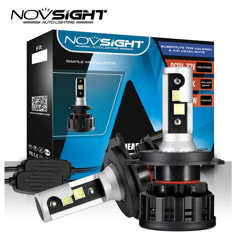 NOVSIGHT H4 LED H7 H11 H8 9006 HB4 H1 H3 HB3 H9 H13 9007 HB3 9003 HB2 Car Headlight Bulbs LED Lamp 18000LM 6500K 12V
