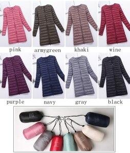 Image 2 - Marka NewBang dół kurtki kobiet długi, z kaczego puchu kurtki kobiety lekki ciepły Linner, szczupła, przenośna damskie płaszcze