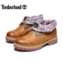 TIMBERLAND/оригинальная классическая мужская повседневная обувь для улицы с перевернутым краем; мужские оксфорды из натуральной кожи; нескользящая обувь