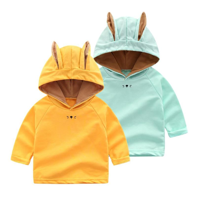 StoßFest Und Antimagnetisch Niedlichen Kaninchen Ohr Baby Hoodies Langarm Baumwolle Einfarbig Lässig Infant Pullover Tops Für 1-18months Wasserdicht Hoodies & Sweatshirts Mutter & Kinder