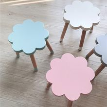 Nordic Style Flower Shape Baby Chair Kids Room Furniture Wooden Stools Modern Home Decor Nursery Decor Children's Birthday Gift(China)