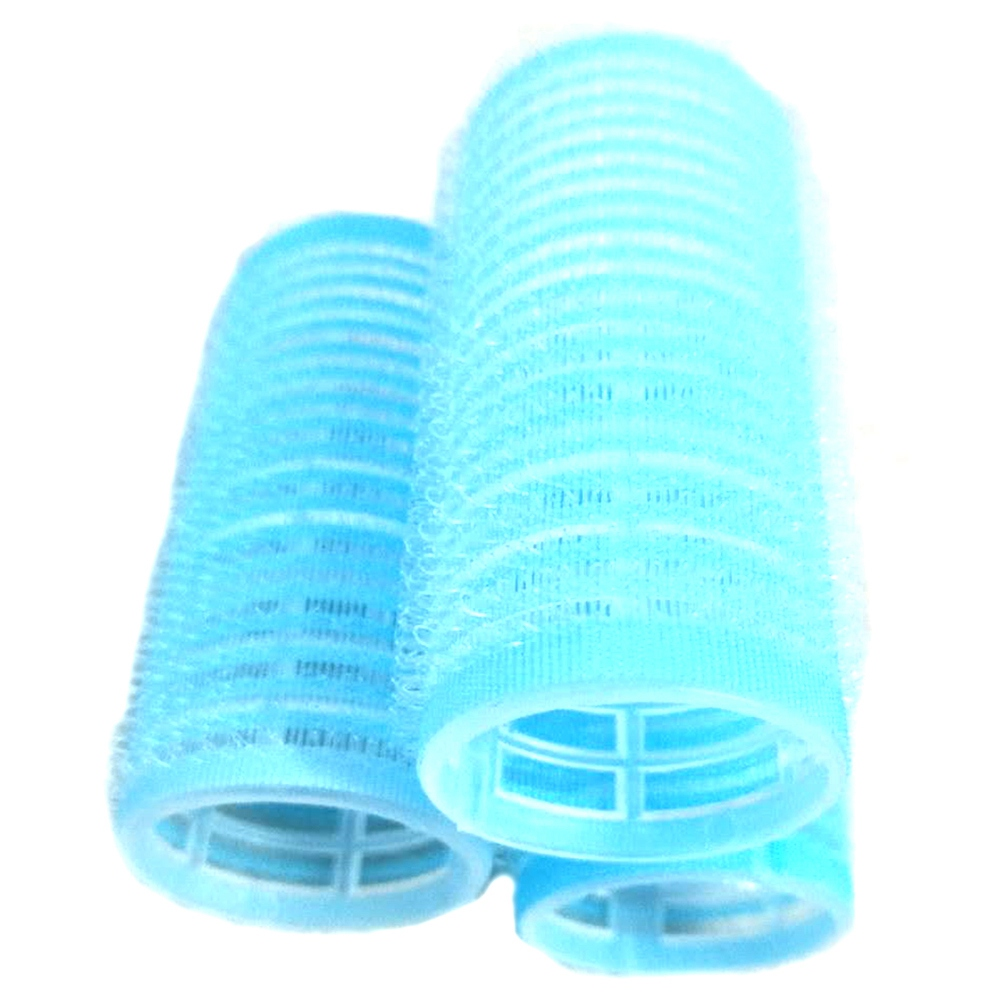 12 Total Hot Hair Curler Blue Self Grip 30Mm Buckle Hair Rollers 12 Total