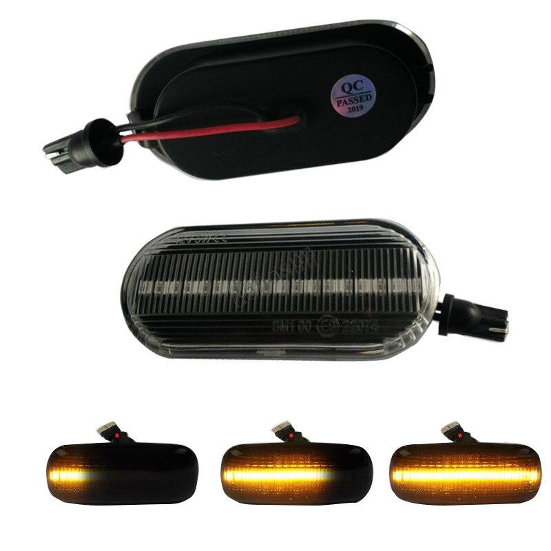 2 pcs x Brilho Indicador LED Âmbar Lado Fluindo Luz de sinalização Para VW Golf Lupo Vento T5 Octavia Skoda Citigo galáxia Sharan Bora
