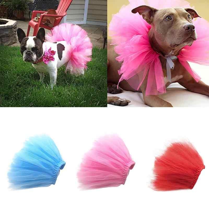 Vestido de novia de Gato Princesa, nuevo de verano, falda de malla de PERRO DULCE, ropa sólida, falda tutú de mascotas, ropa Sexy de diseño de mascotas