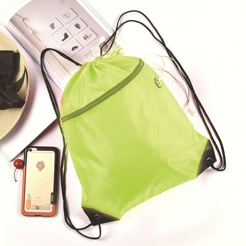 e66a0caedb95 New Men Women Drawstring Backpack Cinch Sack Large Storage Bags ...
