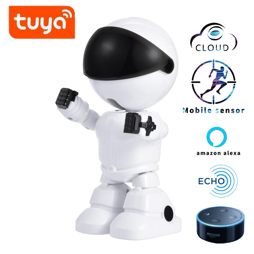TUYA alexa echo Baby Monitor wifi Zwei weg Audio Roboter Kamera 1080 P HD Netzwerk IP Nachtsicht Motion erkennung SMART home shojzj|Sprach-Roboter|   -