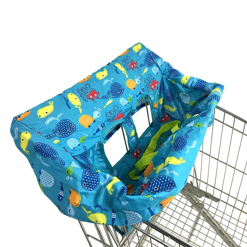 Baby Child Supermarket Shopping Cart Seat Cushion Infant Chair Cartoon Animal Cushion  Protection Safe Travel Portable Cushion