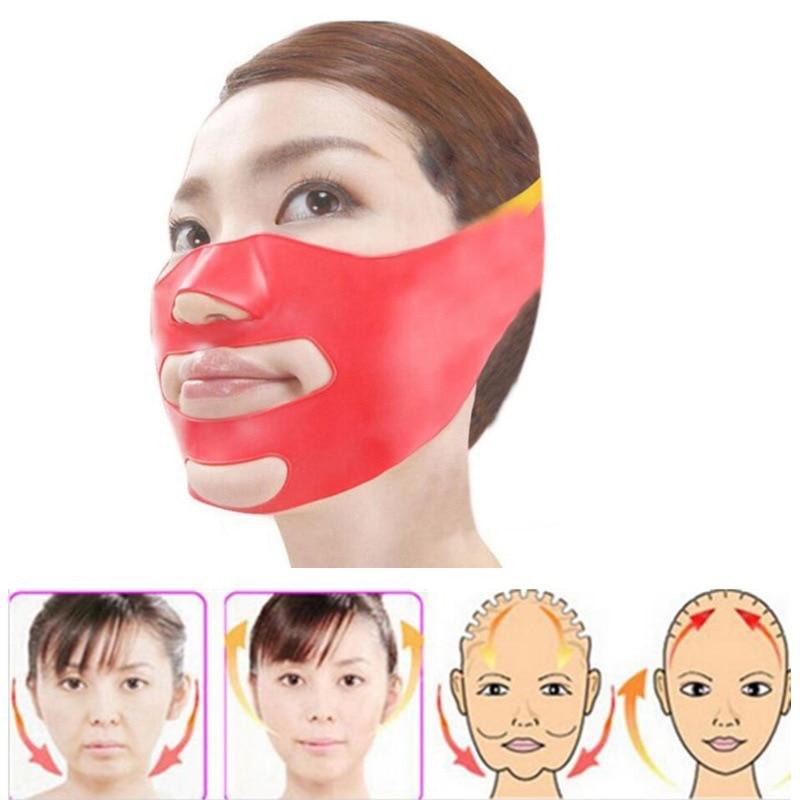 Silicone Thin Face Mask  V-line Face Bandage Belt Slimming Facial Jade Roller Skin Care Face Massager Lifting Slim Massage Tool