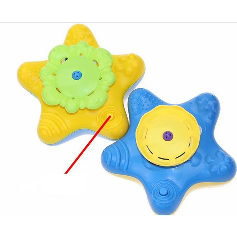 Baby Bath Splash Spray Toy Starfish Rotate Squirter for Swimming Pool Bathtub Random Color in Bath Toy from Toys Hobbies