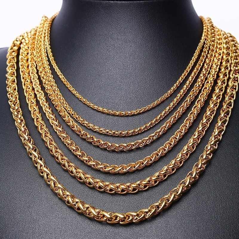Vnox Wheat Chains Necklace...