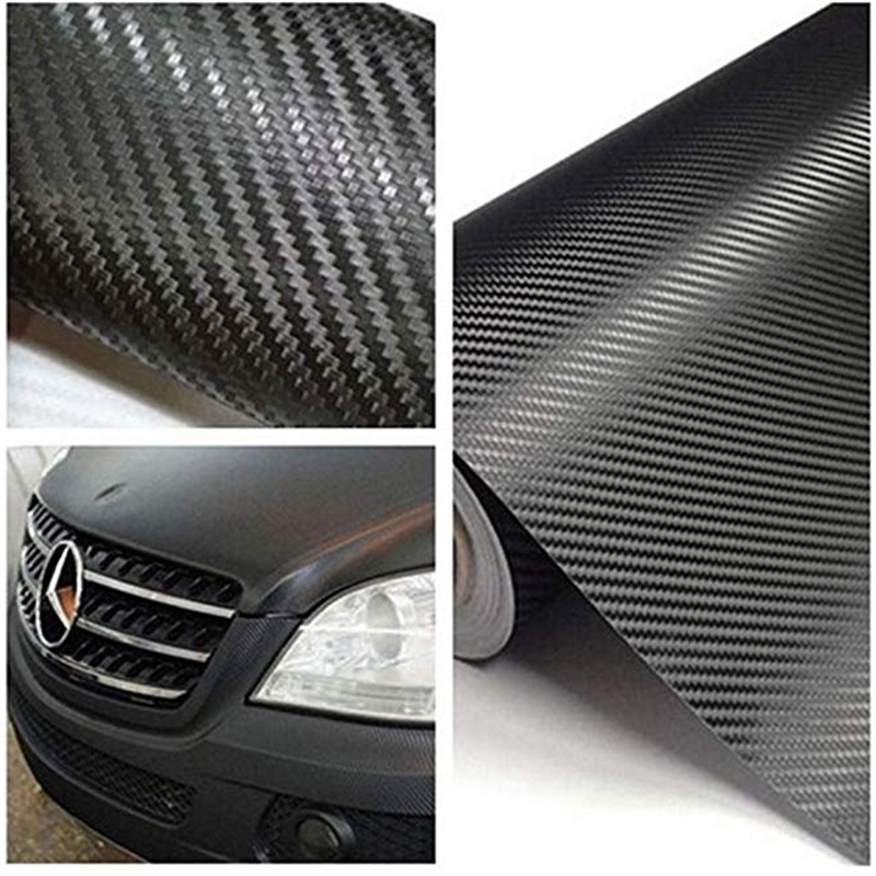 2019 Hot Carbon Fiber Wrap Roll Stickers New Car Protect Sticker Sheet Black Decorative Practical Paster for Car Decorative Film in Decorative Films from Home Garden