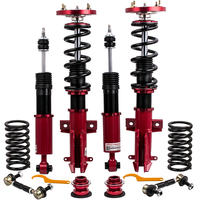 24 Ways Damper Coilover Absorbers For Ford Mustang Red Shocks Struts 2005 2014 Coilovers Spring Damper Force Camber Plate