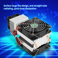 Electronic Semiconductor Cooling System Semiconductor Refrigeration Cooler 72W DIY Cooling System Fan Computer Components 12V