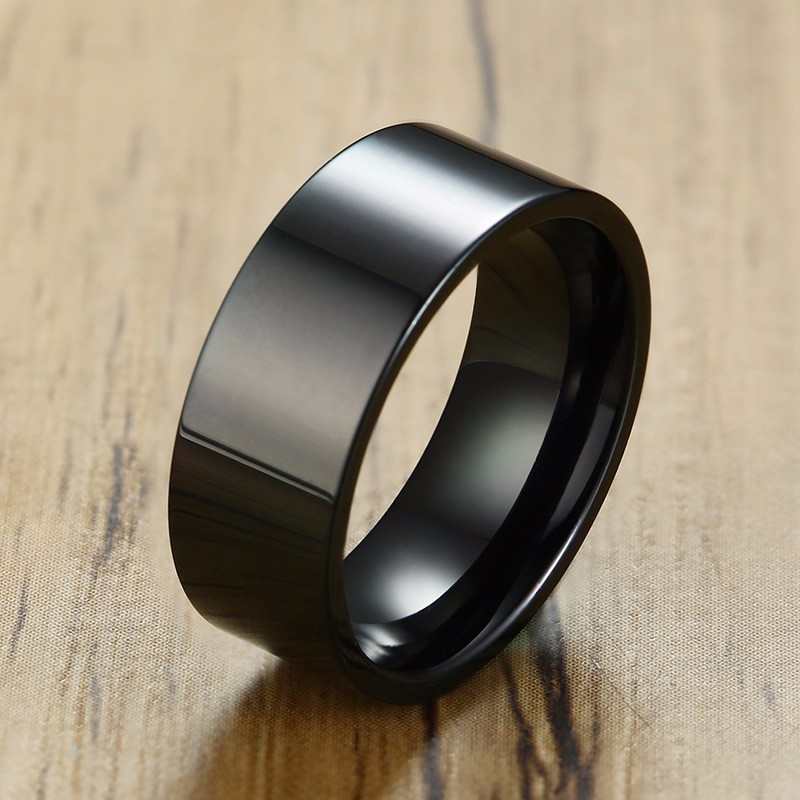 8mm Stainless Steel Tungsten Ring Man Band W//Carve Hook Up Pattern Size 7-13