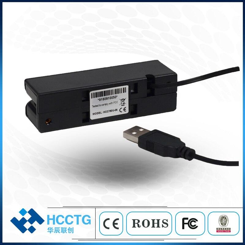 Prix usine lecteur de bande magnétique lecteur de carte IC Combo USB 2.0 HCC100