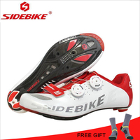 SIDEBIKE шоссейная велосипедная обувь из углеродного волокна дышащая Сверхлегкая велосипедная обувь самоблокирующиеся велосипедные кроссовк