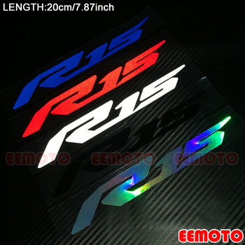 Мотоциклетный шлем корпус накладка на бак мотоцикл обтекатель светоотражающие наклейки серебристо-синие красные наклейки для YAMAHA YZF R1 R15 R25 ...