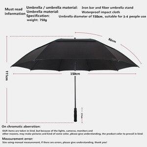 Image 5 - مظلة الجولف من طبقة مزدوجة كبيرة مبتكرة من NX 145 سنتيمتر إلى 150 سنتيمتر مظلة رجالية طويلة مقاومة للرياح للرجال