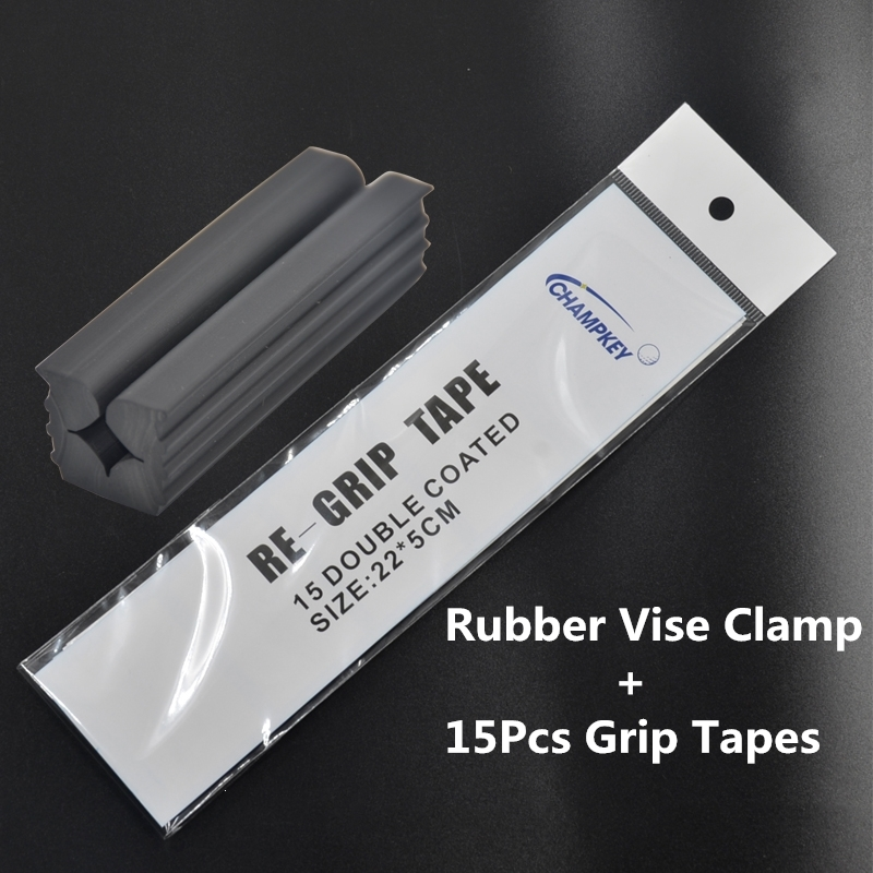 NEW Rubber Vise Clamp + 13PCS Golf Tape Free Shipping Golf Club Tool Re-gripping Re-Shaft/Head Extractor Repair Vice