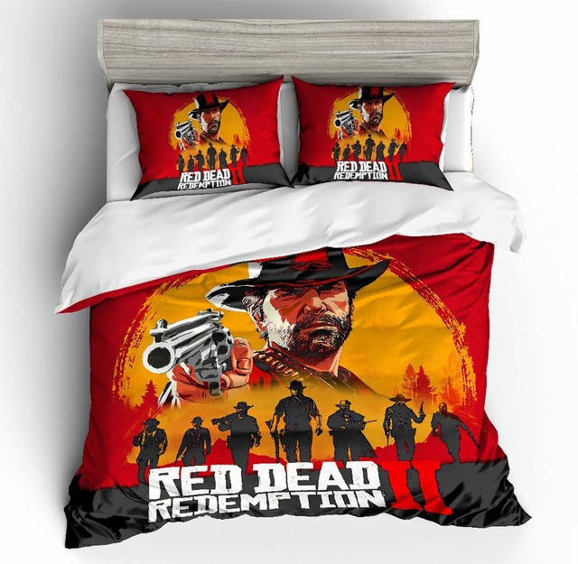 Red Dead Redemption 3D printing bedding set duvet cover set Pillowcases comforter bedding sets Home textile bedclothes bed linen