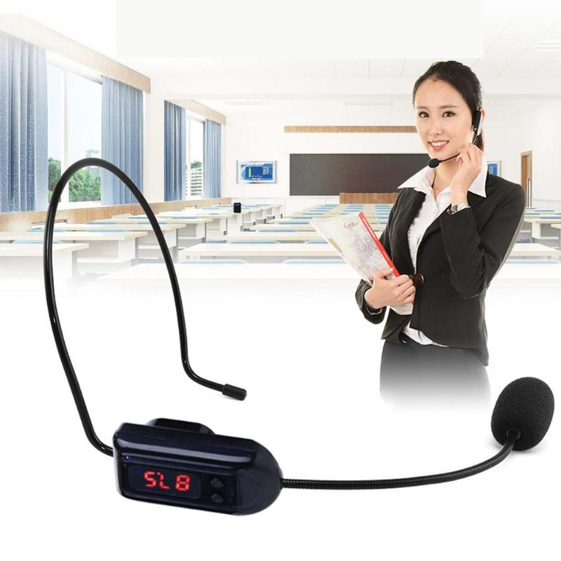 Headset Microphone Radio Meetings Portable Wireless Lectures FM for Teaching-Tour Guide-Sales
