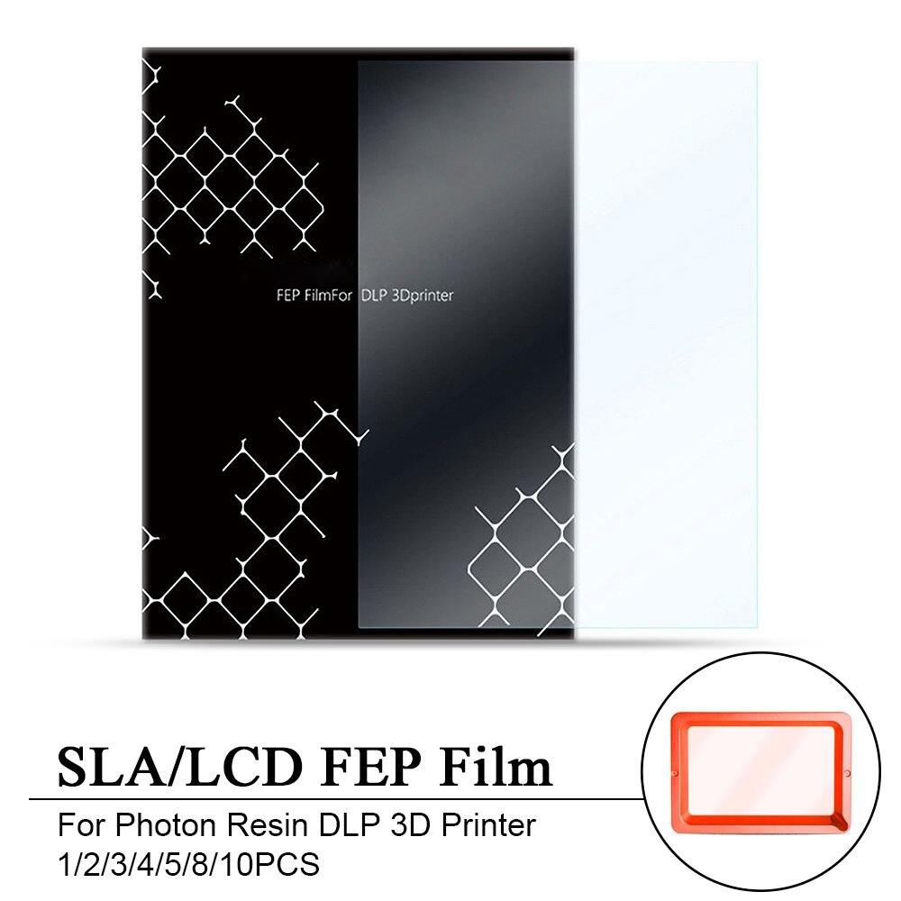 1/2/3/4/5/8/10 stücke SLA/LCD FEP Film 0,15 -0,2mm Dicke Aufkleber Für Photon Harz DLP 3D Drucker 140x200mm