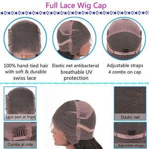 Image 2 - 제트 블랙 1 # 컬러 인간의 머리카락 전체 레이스 가발 베이비 헤어 130% 150% 스트레이트 가발 레미 헤어 사전 뽑아 자연 헤어 라인 qearl