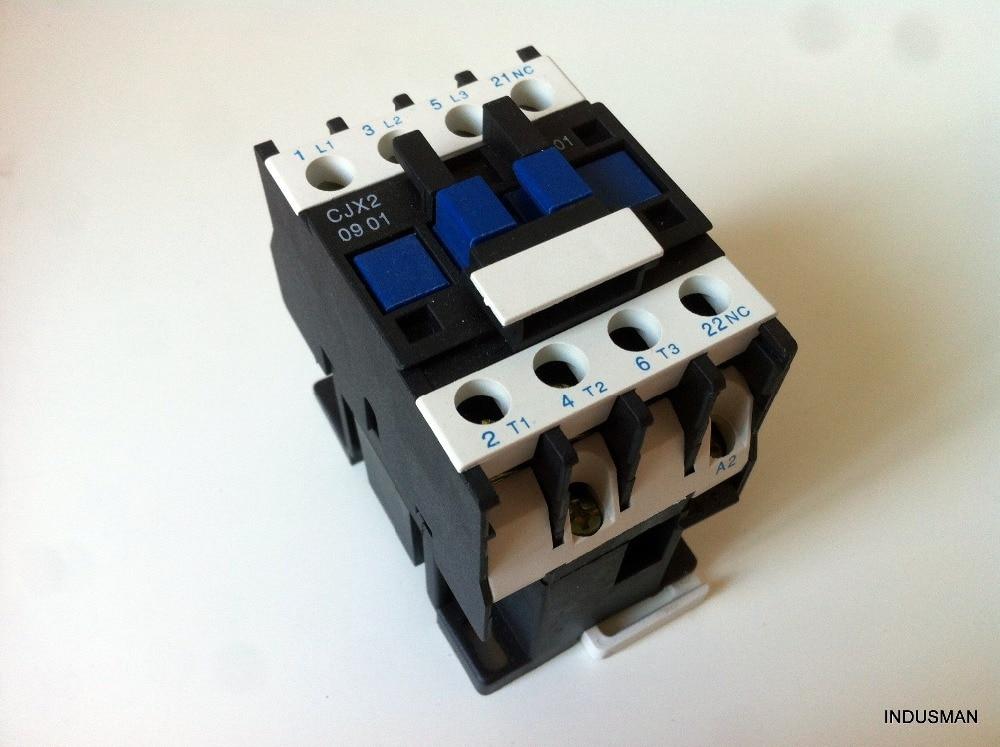 CJX2-0901 AC Contactor 9 Amp 3 Phase 3-Pole NCC 220V 50/60Hz CoilCJX2-0901 AC Contactor 9 Amp 3 Phase 3-Pole NCC 220V 50/60Hz Coil