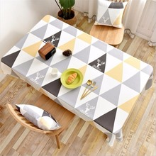 New Tablecloth Waterproof Triangle Geometric Rectangular Reindeer Printing Coffee Table Cover For Home Wedding Decor