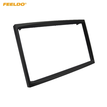FEELDO Car Radio Audio 2DIN Panel Fascia Frame for Fiat Scudo CITROEN C2/C3 PEUGEOT (207/307) ProAce Plate Dash Mount Kit image